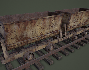 Mine Trolley PBR 3D asset