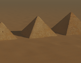 3D model Pyramids of Giza Egypt