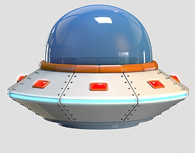 3D model Low Poly Cartoon UFO