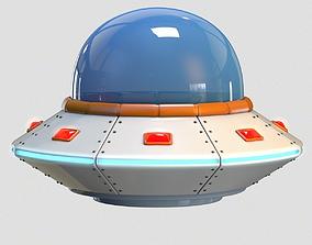 3D asset Low Poly Cartoon UFO