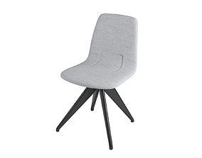 Chair TORSO 837-I POTOCCO Gray flax and black ash 3D