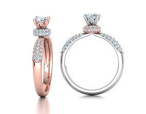 3D print model Solitaire Engagement ring Unique design 5mm