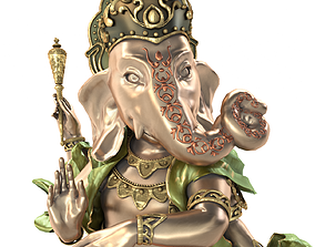 Dancing Ganesha Indian God 3D