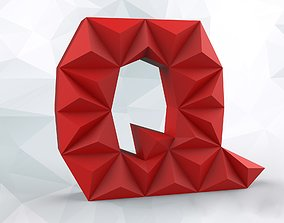 3D print model Lowpoly letter Q
