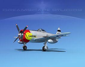Republic P-47D Thunderbolt Campfire 3D