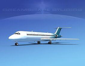 3D model Douglas DC-9-30 Century Airlines