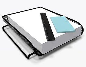 3D model Paper mesh horizontal holder 01
