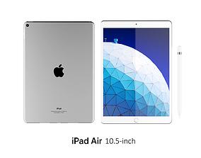 iPad Air 10 5-inch Silver 3D