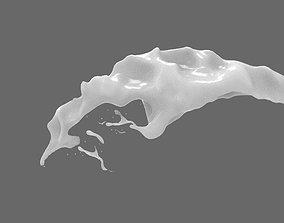 Milk Splash 3 3D asset