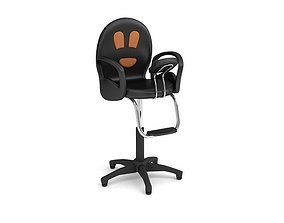Black Adjustable Chair 3D