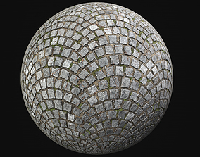 COBBLESTONE PAVEMENT PBR SEAMLESS 3D model