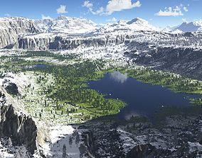 3D The lakes valley in Terragen
