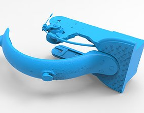 Xiaomi m365 electric scooter rear 3D printable model 2