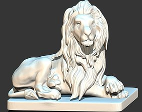 3D print model gargoyles Lion Statue
