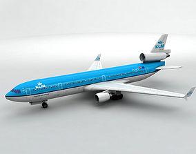 Douglas MD 11 Airliner - KLM 3D asset