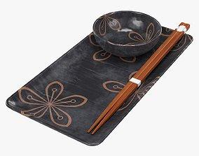 3D Tableware Sushi set
