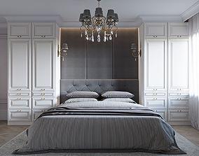 3D Interior Neoclassic Bedroom 01