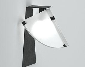 3D model Black And White Sconce Lamp