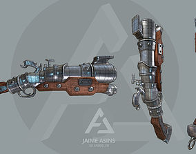 Pirate blunderbuss 3D asset