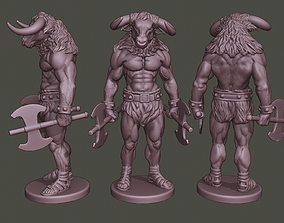3D print model Minotaur Warrior Stand3 two Axes