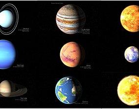 solar system corona 3D model