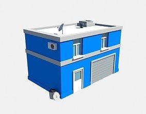 low poly garage 3D model
