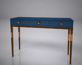 minimalistic 3D Channing Three-Drawer Console