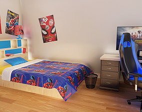Kids Bedroom and Gamer Room 3D model