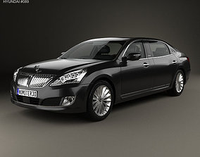 Hyundai Equus Centennial limousine with HQ 3D model 1