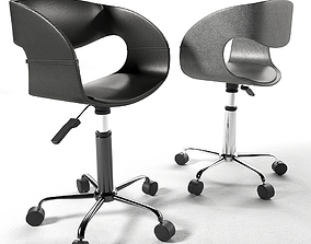 Chair 3D model leather
