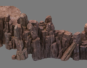 3D model Stone Fallen Land - Octopus Cliff 03