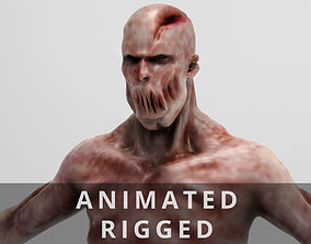3D asset Walking Zombie Rigged Animated