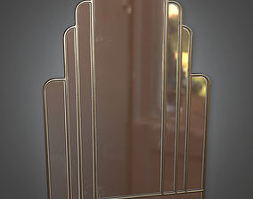 3D asset Mirror Art Deco - PBR Game Ready