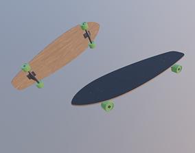 3D asset Longboard