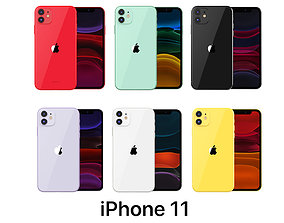 3D model Apple iPhone 11 Collection