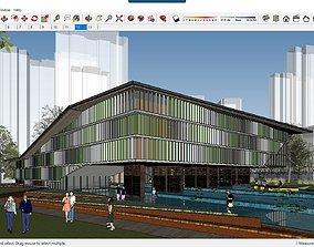 3D model Sketchup Cultural center F6