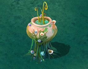 Cartoon version - petrol spores 04 3D model