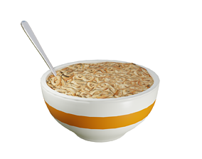 3D asset Bowl of Cereal