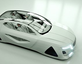 Affekta X-Fusion S1 Sci-Fi concept car BEST 3D model 1