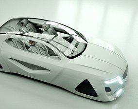 Affekta X-Fusion Sci-Fi concept car BEST 3D model 1