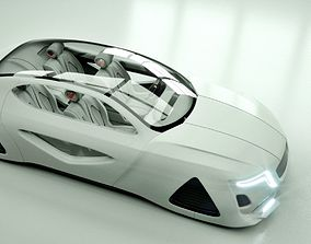3D model Affekta X-Fusion Sci-Fi concept car BEST 1