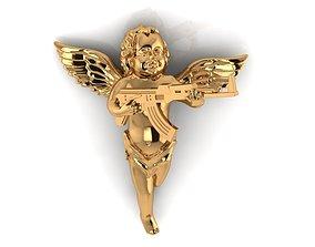 3D print model Angel AK pendant