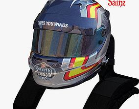 3D asset Sainz helmet 2017