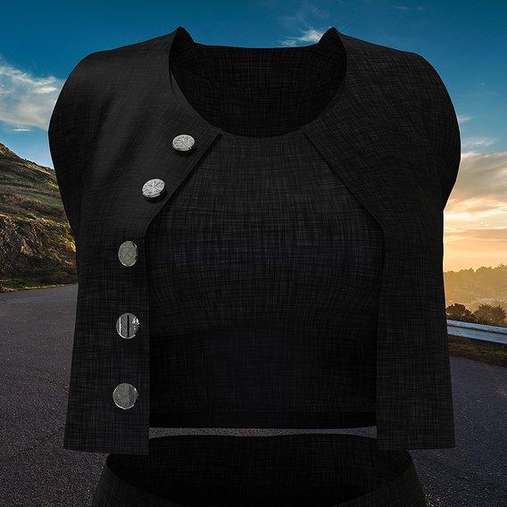 Rock n 'Roll Style Women's Clothing Set