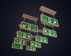 Exit Signs 3D model