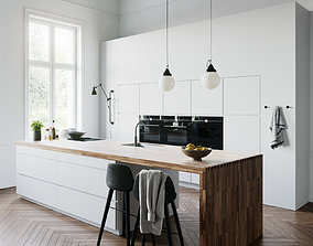 3D White Kitchen by Kvik