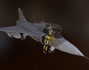 JAS 39 Gripen - Lowpoly 3D model