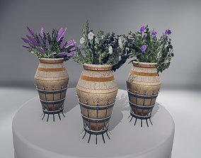3D asset low-poly Flowers