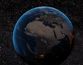 3D asset Realistic earth model for cinematic and movies
