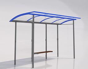 MMCite Skandum 110a Bus Shelter 3D model